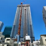ラ・トゥール大阪梅田ガーデン(仮称)大阪梅田計画の建設状況 21.04【2022年3月竣工】