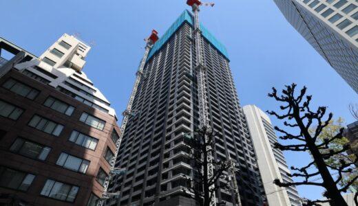シティタワー大阪本町 建設工事の状況 21.04【2021年11月竣工予定】