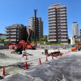(仮称)上町台筆ヶ崎プロジェクト リバー産業が建設中のタワーマンションの状況 21.04