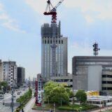 関西医科大学タワー棟新築工事の状況 21.05【2021年9月竣工】