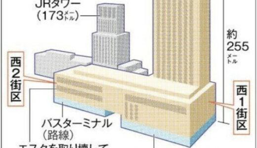 JR札幌駅前の北5西1・西2再開発ビルは高さ約255mのA案に絞り込み!
