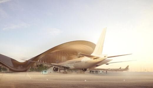 サウジアラビア「紅海国際空港」は砂漠の風景の色と質感に触発された曲線が美しいデザイン!