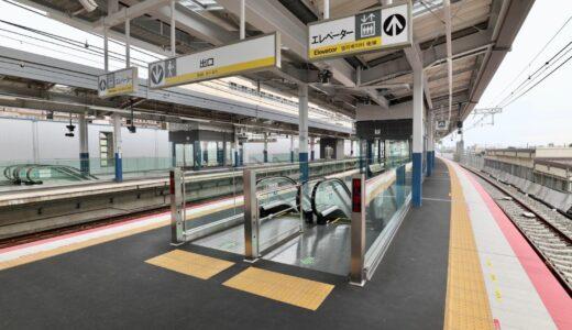 南海本線ー高石駅高架化工事の状況 21.06 難波方面行き上り線が5月22日始発から高架化運用を開始!