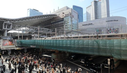 JR大阪駅御堂筋口と阪急百貨店の間の高架橋の美装化工事がついに始まる!!