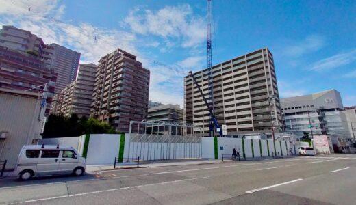 (仮称)上町台筆ヶ崎プロジェクト リバー産業が建設中のタワーマンションの状況 21.08【2023年7月竣工】