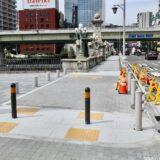 中之島通の歩行者空間化(公園化)整備工事の状況 21.06【共用開始済み】
