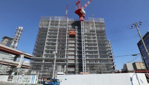 ベイシティタワーズ神戸 WEST/EAST 新港突堤西地区(第1突堤基部)再開発事業5・8工区の建設状況 21.09