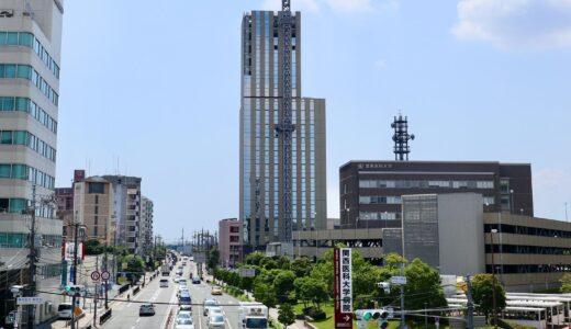 関西医科大学タワー棟新築工事の状況 21.07【2021年9月竣工】