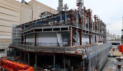 (仮称)センタラグランドホテル大阪 難波中二丁目開発計画「A敷地」の状況 21.07【2023年3月竣工】