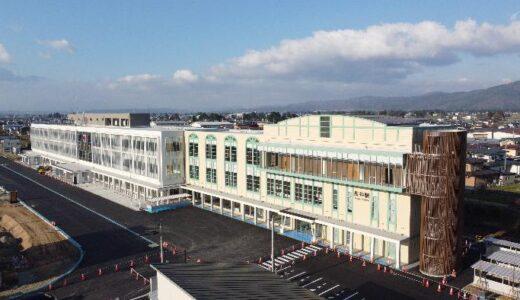 全国初!山形県長井市に駅と一体化した新庁舎が開庁。南北約170m及ぶ細長い構造で駅舎と市庁舎は内部で往来可能!