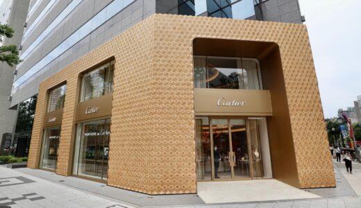 「カルティエ 心斎橋ブティック」が移転リニューアルオープン!だまし絵の様なデザインのファザードは一見の価値あり!