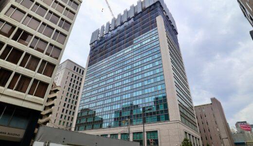 日本生命淀屋橋ビル新築工事の状況 21.07【2022年10月竣工】