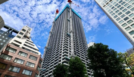 シティタワー大阪本町 建設工事の状況 21.08【2021年11月竣工予定】