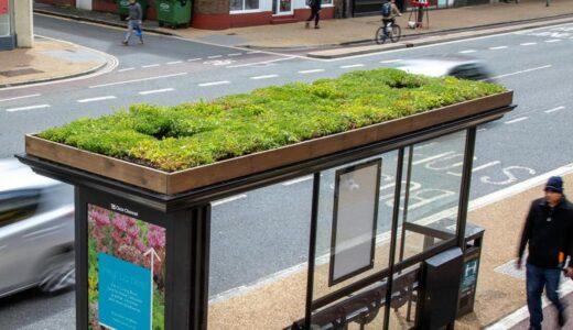 バス停の屋根の上に蜂の停留所「Bee Bus Stops」を設置!イギリス・レスター市の30のバス停の上に