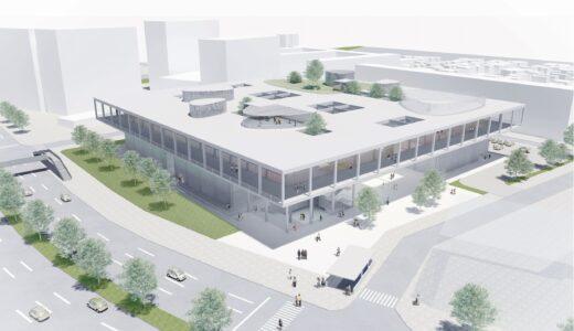 (仮称)名古屋造形大学新キャンパス新築移転工事の状況 21.08【2022年01月竣工予定】