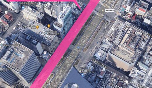 御堂筋の側道歩道化 道頓堀川から千日前通までの西側側道を2021年10月上旬に閉鎖!