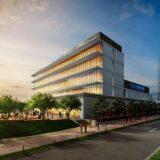 西尾レントオールR&D国際交流センター(仮称)建設工事の状況 21.09【2023年3月竣工予定】