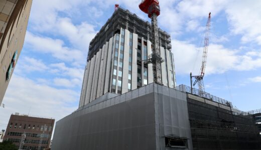 (仮称)センタラグランドホテル大阪 難波中二丁目開発計画「A敷地」の状況 21.10【2023年3月竣工】